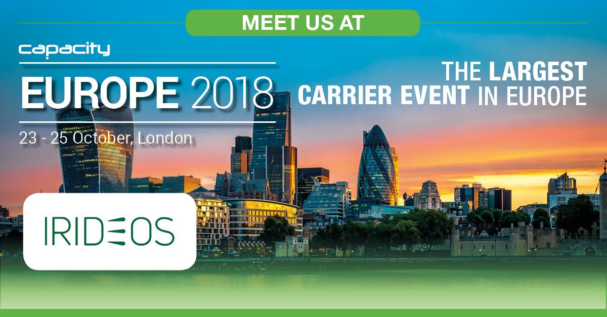IRIDEOS partecipa al Capacity Europe @Londra