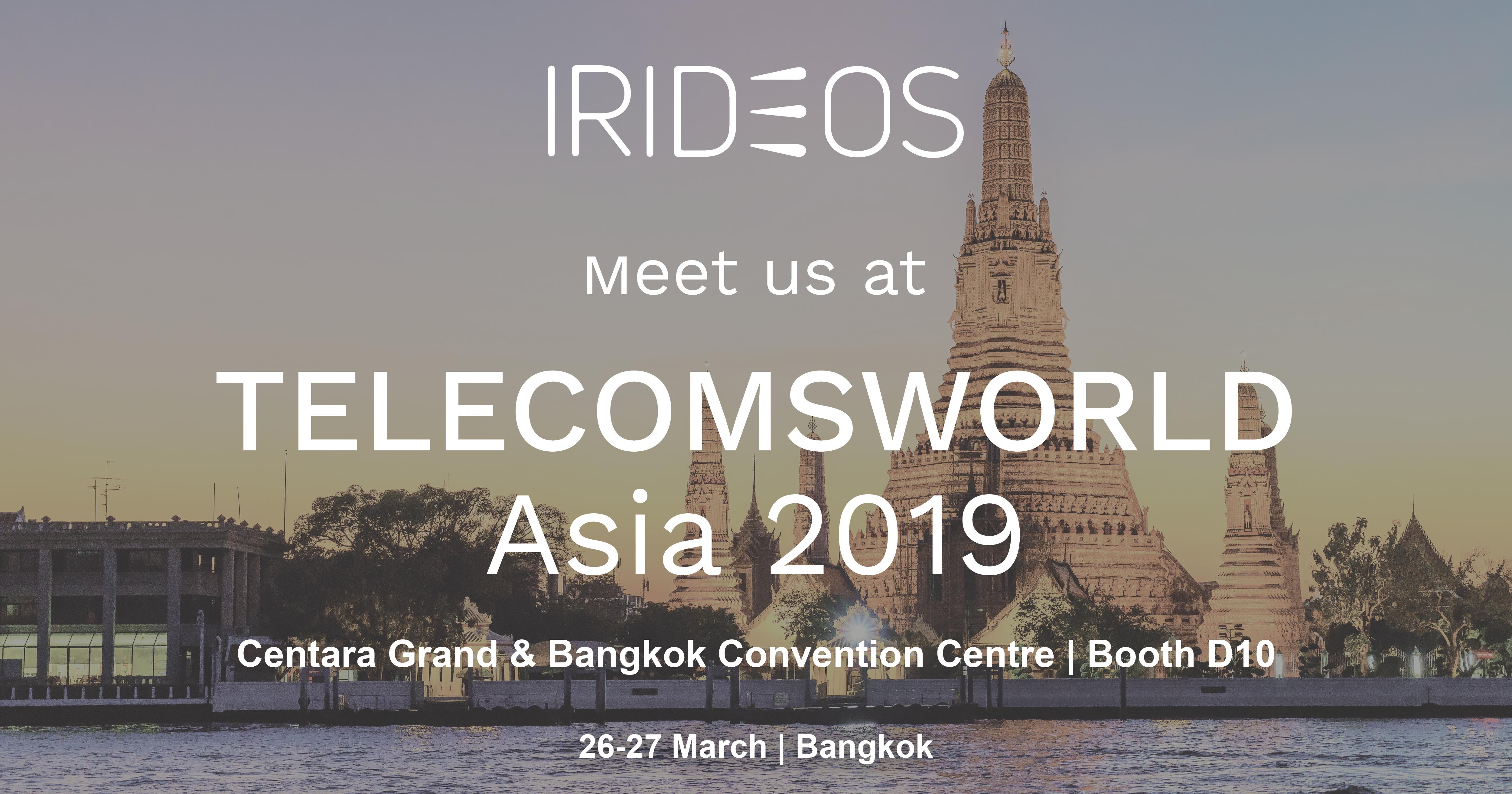 IRIDEOS partecipa @TelecomsWorld Asia 2019
