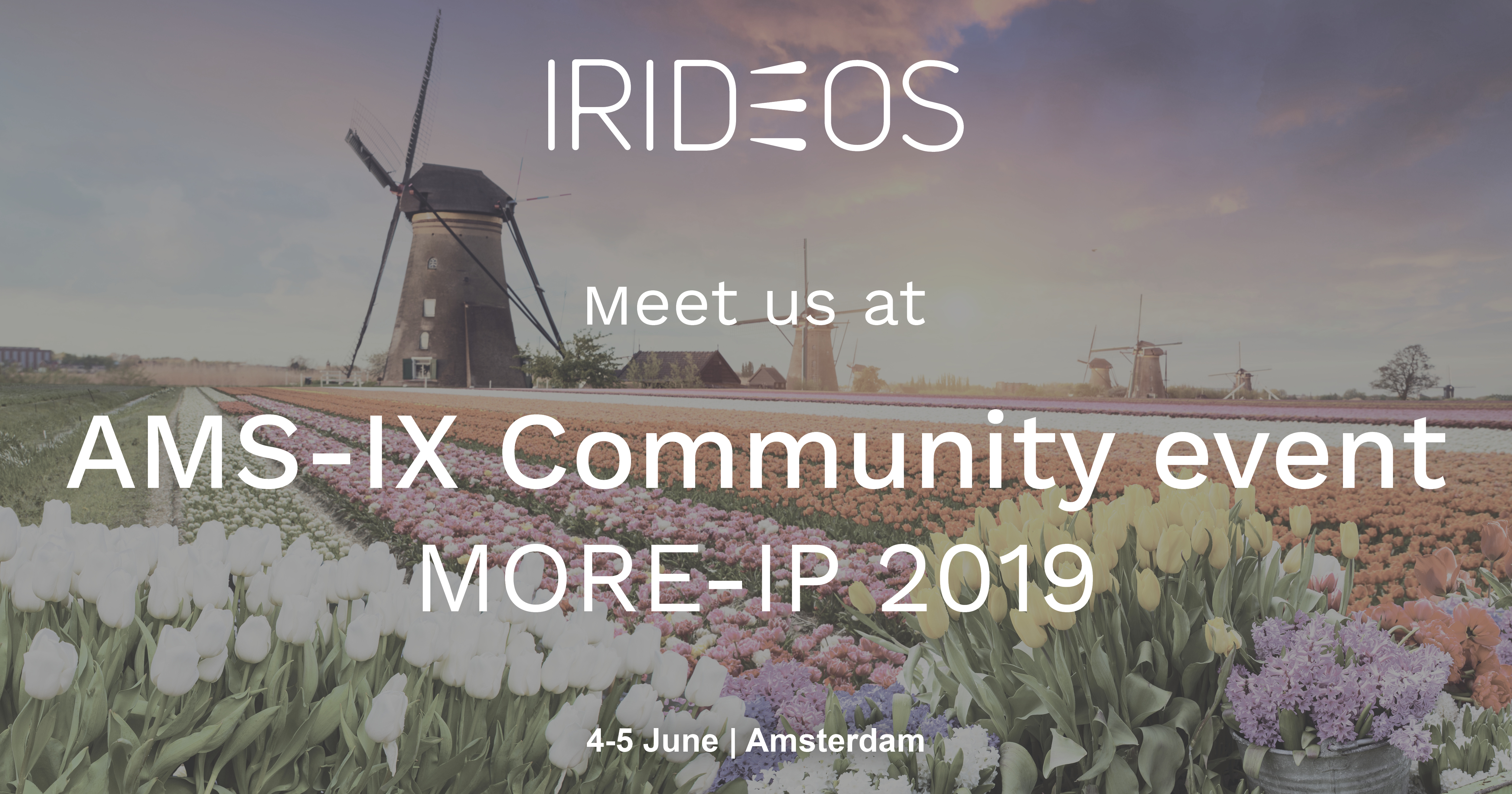 IRIDEOS takes part in MORE-IP, Amsterdam