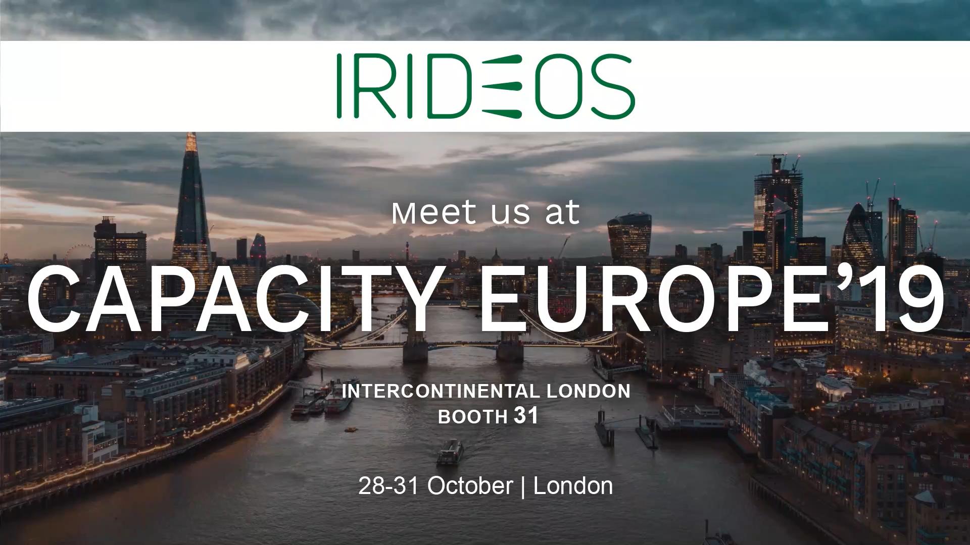 IRIDEOS partecipa @CAPACITY EUROPE, Londra