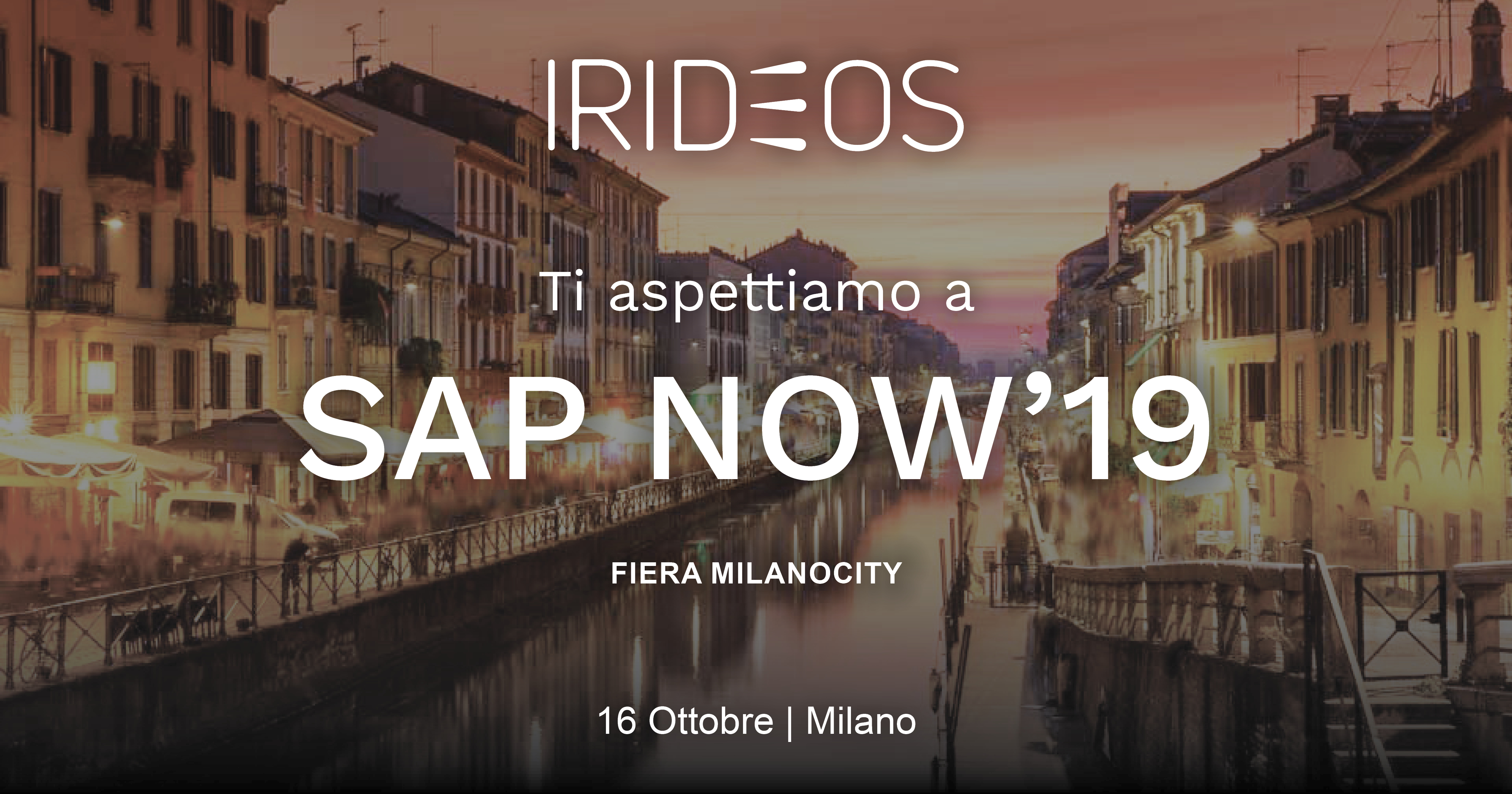 IRIDEOS partecipa al SAP NOW 2019